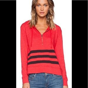 Sundry from Revolve Zipper Pullover Hoodie in Red
